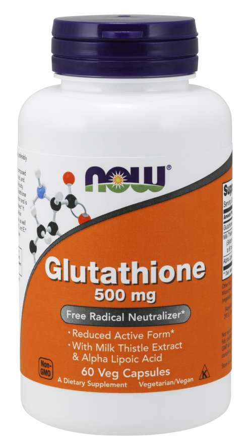 Now Glutathione 500mg 60 Veg Capsules