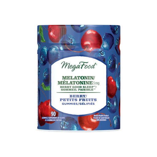 Mega Food Melatonin  Berry 90 Gummies