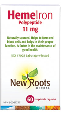 New Roots Heme Iron 60 Vegetable Capsules