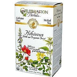 Celebration Herbals Hibiscus Organic Twist Tea 24 Bags