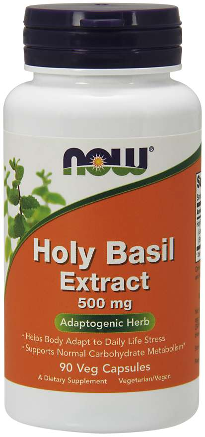 Now Holy Basil Extract 500mg 90 Veg Capsules