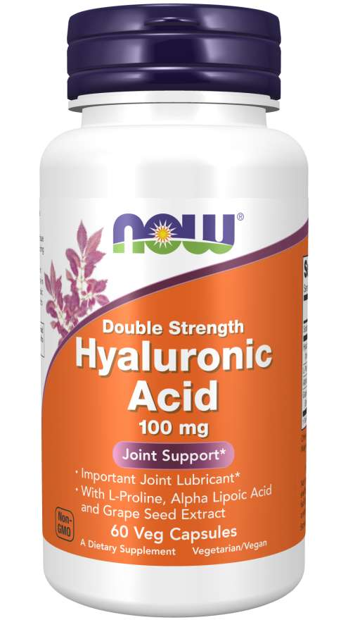 Now Hyaluronic Acid Double Strength 100mg 60 Veg Capsules