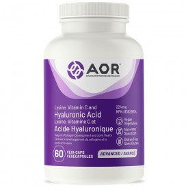 AOR Lysine, Vitamin C and Hyaluronic Acid 60 VCaps