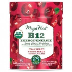 Mega Food Vitamin B12 Energy Cranberry 90 Gummies