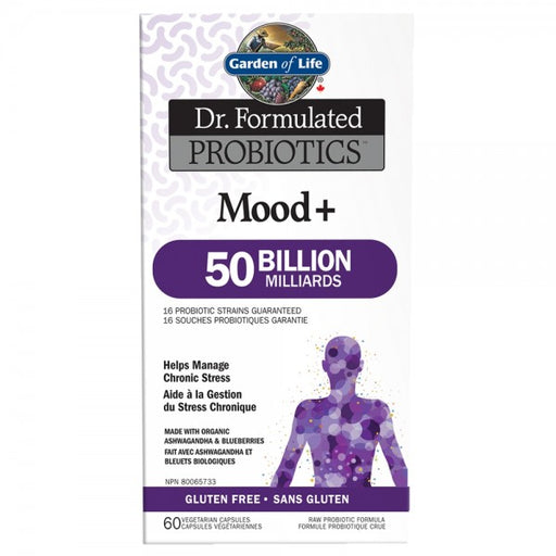 Garden of Life Dr. Formulated Probiotics Mood+ 50 Billion 60 VCaps