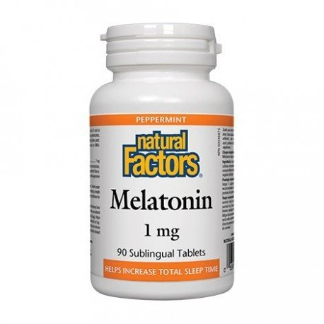 Natural Factors Melatonin 1mg 90 Sublingual Tablets