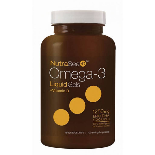 Nutrasea Omega-3+D 1250mg 100 Softgels
