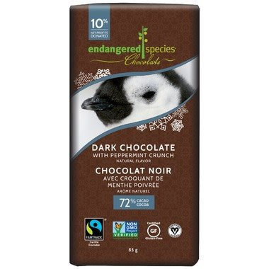 Dark Chocolate Bar w/ Peppermint Crunch-Penguin 85g