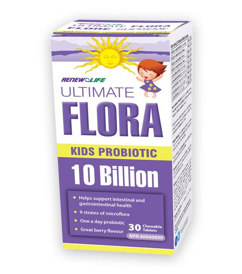 Ultimate Flora Kids Probiotic 10 Billion 60 Chew Tabs