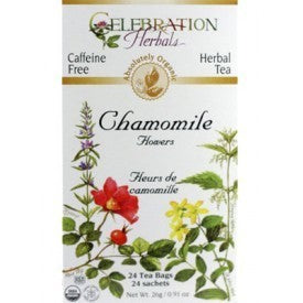 Celebration Herbals Chamomile Flowers Tea Organic 24 Bags