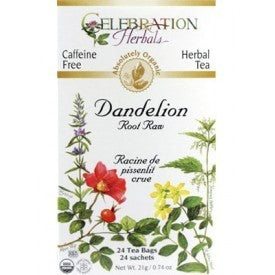 Celebration Herbals Dandelion Root Raw Tea Organic 24 Bags