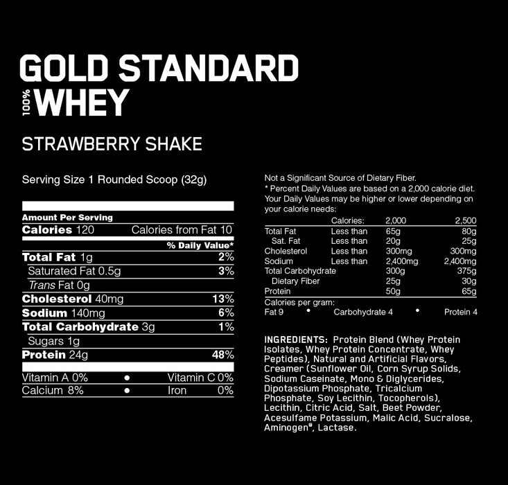 100% Gold Standard Whey Delicious Strawberry 2lbs