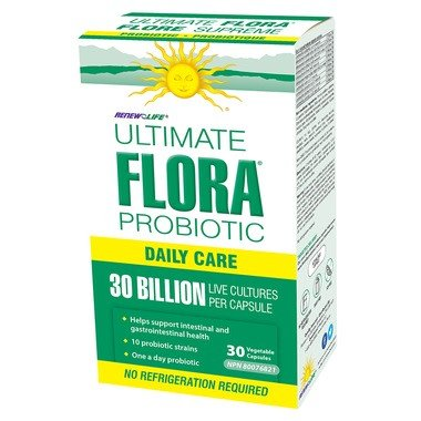 Renew Life Ultimate Flora Daily Care Probiotic 30 Billion 30 VCaps