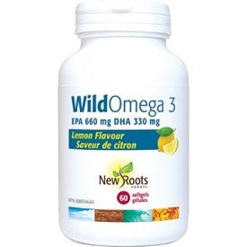 New Roots Wild Omega 3 EPA 660mg/330mg Lemon 60 Softgels