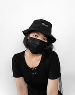 Load image into Gallery viewer, Women streetwear fashion with black bucket cap in Singapore