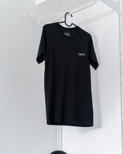 Black cotton unisex streetwear t-shirt fashion