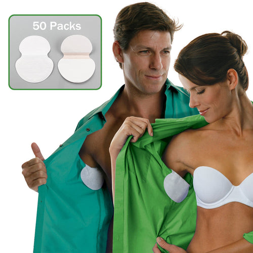 100pcs 50 Packs Summer Armpit Sweat Pads