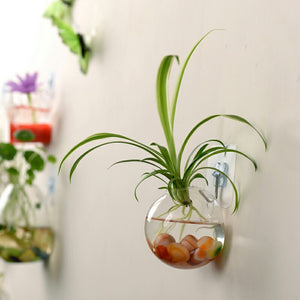 2018 New Hanging Flower Pot Glass Ball Vase Terrarium Wall Fish Tank Aquarium Container