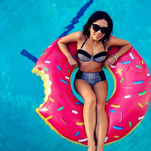 Inflatable Donut Swimming Ring - caperize
