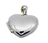LOCKET HEART POLISHED IN 925 SILVER