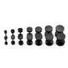 2 PAIRS of Black Round Stainless Steel Screw Studs