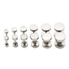 2 PAIRS of Silver Round Stainless Steel Screw Studs