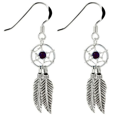 DREAM CATCHER EARRINGS IN 925 SILVER