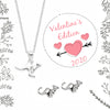 VALENTINES EDITION 2020, 925 SILVER KANGAROO STUDS & NECKLACE