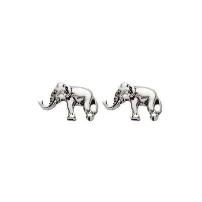 ELEPHANT STUDS IN 925 SILVER