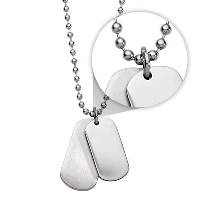 MINI DOG TAG & 55CM STAINLESS STEEL NECKLACE