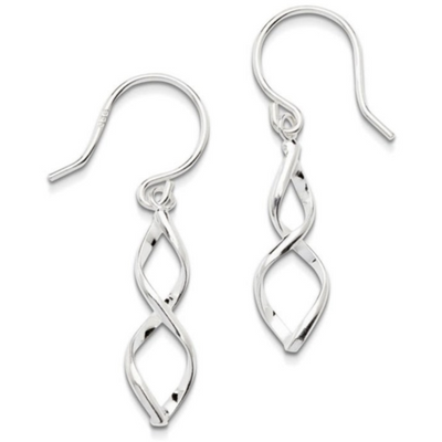 TWIST SPIRAL STICK EARRINGS IN 925 SILVER