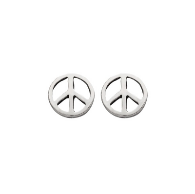 PEACE STUDS IN 925 SILVER