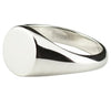MENS ROUND SIGNET RING IN 925 SILVER