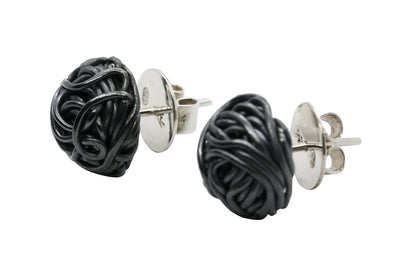 TANGLY 925 SILVER OXIDISED STUDS EARRINGS