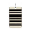BLACK STRIPE STAINLESS STEEL PENDANT