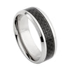 CARBON FIBRE RING IN STAINLESS STEEL