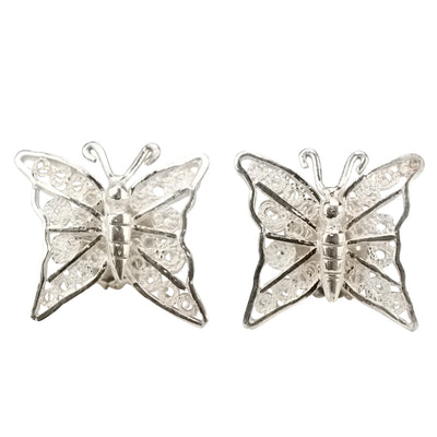 BUTTERFLIES FILIGREE STUDS IN 925 SILVER