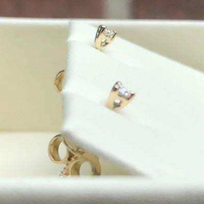 CUSTOM MADE 9K YELLOW GOLD 2MM DIAMONDS (H,VS2) STUDS