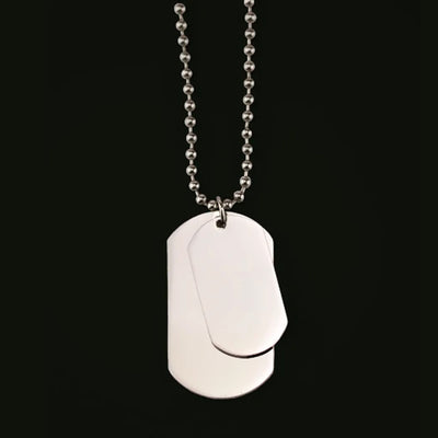 DOG TAG  & 70CM STAINLESS STEEL NECKLACE
