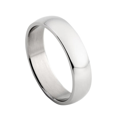 DOMED POLISHED RING IN STAINLESS STEEL