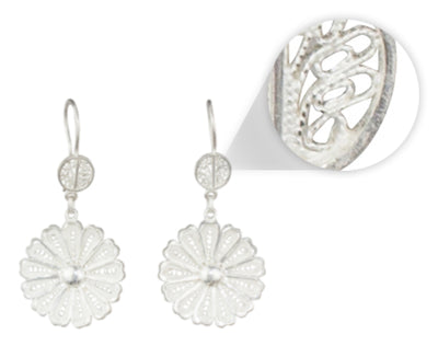 MARGARET FILIGREE EARRINGS IN 950 SILVER