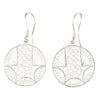 ROUND FILIGREE EARRINGS IN 925 SILVER