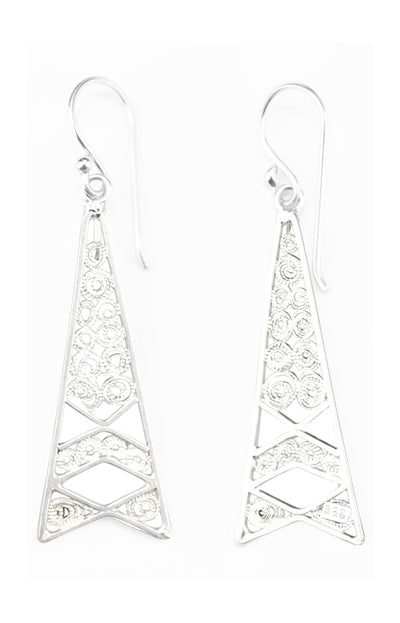 TOWER FILIGREE EARRINGS IN 925 SILVER