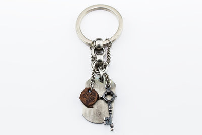 MEN BOHEMIAN KEYRING, MADE IN STAINLESS STEEL (KEY)