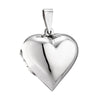 LOCKET HEART (PLAIN) POLISHED IN 925 SILVER