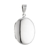 LOCKET OVAL (PLAIN) POLISHED IN 925 SILVER