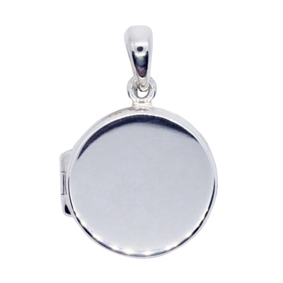 LOCKET ROUND (FLAT) POLISHED IN 925 SILVER