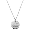 I LOVE YOU TO THE MOON AND BACK NECKLACE IN 925 SILVER