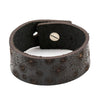 MENS LEATHER BRACELET WITH UNIQUE DESIGN, CHOCOLATE COLOUR