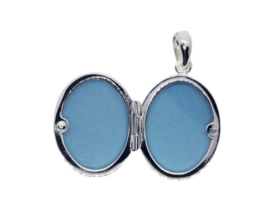 LOCKET OVAL POLISHED IN 925 SILVER